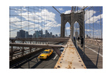 Brooklyn Bridge with Yellow Cab - New York City Icon Photographic Print by Henri Silberman
