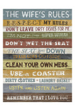 Wife's Rules Prints by Alonza Saunders