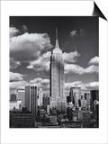 Empire State Building, Shadows, Clouds - New York City, Top View Kunstdruck von Henri Silberman