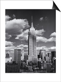 Empire State Building, Shadows, Clouds - New York City, Top View Print by Henri Silberman