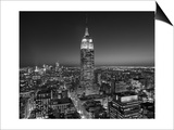 Henri Silberman - Empire State Building, East View - New York City at Night - Poster