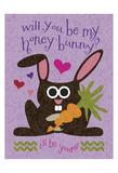 Valentine Rabbit 2 Prints by Melody Hogan