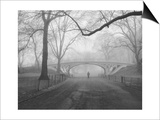 Henri Silberman - Central Park Gothic Bridge,Walker - New York City Landmarks - Poster