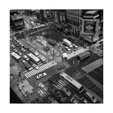 Times Square Fromm Above, Buses - New York City Landmarks Photographic Print by Henri Silberman