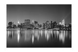 Manhattan East Side - New York City Skyline at Night Fotografisk tryk af Henri Silberman