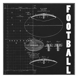 Football Blueprint 1 Posters by Tina Carlson