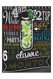 Chalkboard Bar Mojito Poster by Melody Hogan