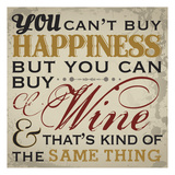 Happy Wine Prints by Melody Hogan