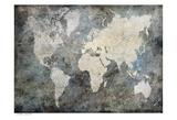 World Map Mmokey Posters by Jane Fox