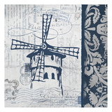 Navy Moulin Prints by Carole Stevens
