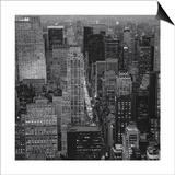 Henri Silberman - Fifth Avenue, North View, Evening - New York City Top View Plakát
