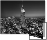 Empire State Building, East View - New York City at Night Art by Henri Silberman