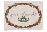 Harvest Wreath GiveThanks Posters by Laura Lobdell
