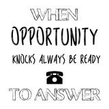 When Opportunity Knocks Reprodukcje autor Sheldon Lewis