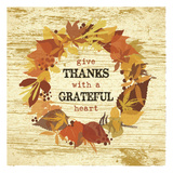 Give Thanks Wreath Posters by Melody Hogan
