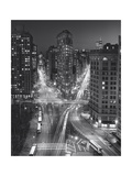 Flat Iron Building, Night 4 - New York City Landmarks Photographic Print by Henri Silberman