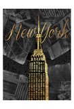 Gold New York Posters by Jace Grey
