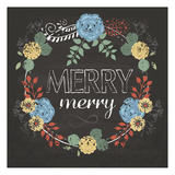 Merry Merry Blue Posters by Melody Hogan