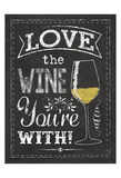 Wine Glass Print by Melody Hogan