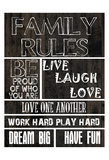 Family Rules B Posters by Sheldon Lewis