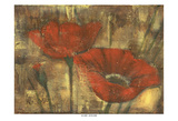 Red Poppie 2 Art by Linda Davey