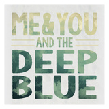 Deep Blue Print by Melody Hogan
