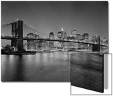 Brooklyn Bridge at Night 2 - New York City Skyline at Night Prints by Henri Silberman