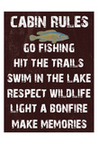 Cabin Rules Prints by Sheldon Lewis