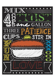 Chalkboard Kitchen Art 4 Posters by Melody Hogan