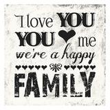 A Happy Family Poster av Melody Hogan
