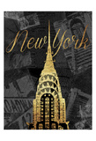 Gold New York Mate Prints by Jace Grey