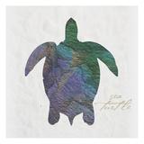 Sea Turtle Paper Schilderij van Melody Hogan