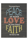 Faith To Carry On Prints by Alonza Saunders