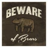 Beware Of Bears Lámina por Jace Grey
