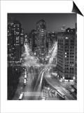 Flat Iron Building, Night 4 - New York City Landmarks Kunstdruck von Henri Silberman