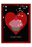 Sweet Heart Cupcake Poster by Sheldon Lewis