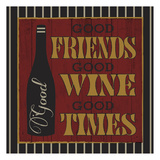 Wine Friends Prints by Melody Hogan