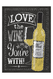 Chalkboard Wine Bottle Posters by Melody Hogan