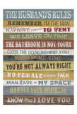 Husband's Rules Posters by Alonza Saunders
