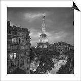 Eifffel Tower Evening - Paris Landmarks, France Print by Henri Silberman