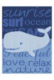 Beach Whale Art by Lauren Gibbons