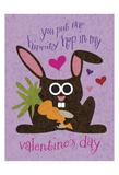 Valentine Rabbit 1 Poster by Melody Hogan