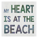 Beach Heart Posters by Melody Hogan