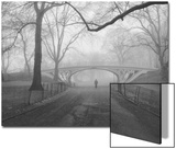 Central Park Gothic Bridge,Walker - New York City Landmarks Art by Henri Silberman