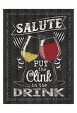 Chalkboard Wine Glasses Posters by Melody Hogan