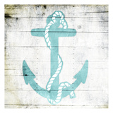Teal Anchor Art by Jace Grey