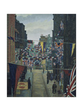 Flask Walk, Hampstead, on Coronation Day Giclee Print by Charles Ginner