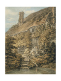 A Vine-Clad Cottage Giclee Print by Thomas Hearne