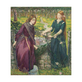 Dante's Vision of Rachel and Leah Giclee Print by Dante Gabriel Rossetti