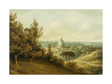 St Peter's from the Villa Milleni Near Rome Giclee Print by John `Warwick' Smith
